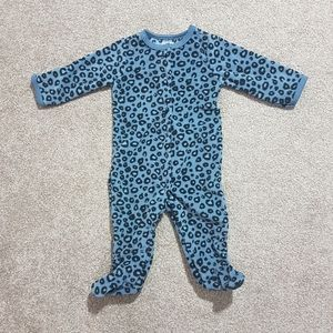 4/$35 ❤ Leopard Print Blue Fleece Snap Pyjama